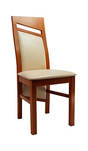 Möbel Gregor Esszimmerstuhl Massivholzstuhl Wohnzimmerstuhl Stuhl Eigenproduktion KR-204 (KIRSCHBAUM)