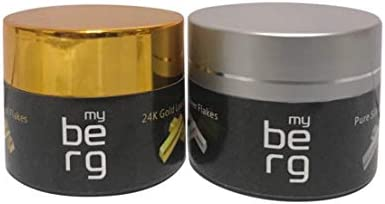 My Berg Edible 50mg Pure Silver Flakes Genuine Silver Leaf Flakes for Skin Care Decorative Dishes Genuine Cooking Cakes & Chocolates Decoration
