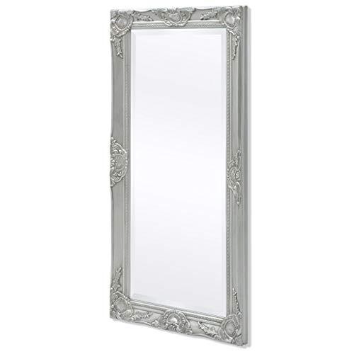 mewmewcat Wandspiegel im Barock-Stil Wand Spiegel Flurspiegel Barockspiegel Frisierspiegel 100 x 50 cm Silber