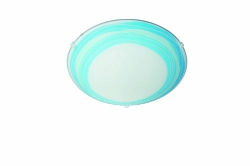 Philips Lighting 301733510 Trudy Plafoniera in Vetro, Decoro Righe, Blu