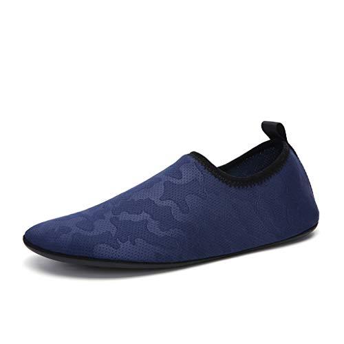 GDSSX Calcetines y Calcetines de Playa Ligeros para Hombres y Mujeres Son adecuados para Buceo, Snorkel, vadeo, Yoga y Fitness Secado Rápido (Color : Blue, Size : 45EU)