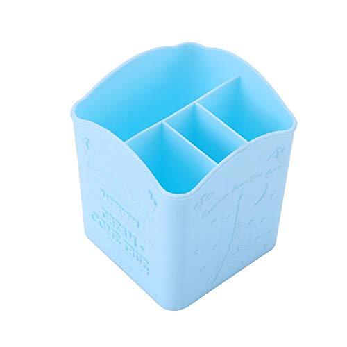 Cosmeticahouder, Uitstekende briefpapier container, cosmetica, Manicure Tools Make-up opbergdoos, (Roze, Paars, Blauw) Blauw