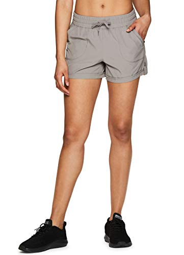 RBX Active Women's Stretch Woven Athletic Walking Short with Pockets S-19 Taupe L