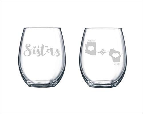 zuster wijn glas beste vriend cadeau zuster verjaardag cadeau zuster cadeau zuster verjaardag cadeau grote zuster gift kleine zuster gift staat