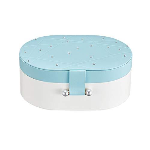JHEY Doble Capa de Cajas para Joyas Collar Grande Perchas joyería Capacidad Pendientes del Collar del Reloj del Anillo de Dedo Organizador Caja