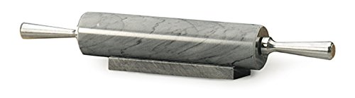 RSVP International (GRY-10) Rolling Pin for Baking & Stand, 10', Gray Marble