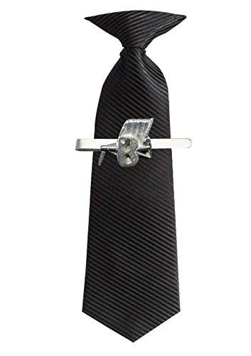FT466 - Silla de playa y B (2,7 x 2,6 cm), diseño de peltre inglés moderno en un clip de corbata (eslide)