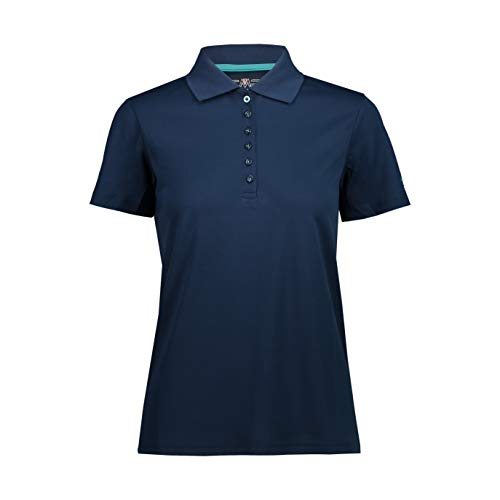CMP Polo piqué en Plain Colour pour Femme M Bleu
