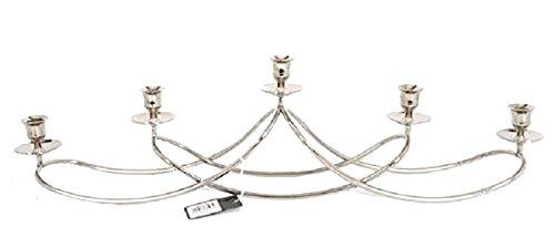 Argento metallo 5PC Swirl grande portacandele candeliere/candelabro centrotavola