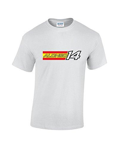 Alonso F1 T-de Manga Corta de Mujer