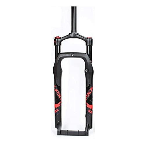 Horquilla Delantera Neumática de Aire para Bicicleta de Nieve 20/26 Pulgadas * 4,0 Horquillas de Suspensión de Neumáticos Gruesos Adaptador de Freno de Disco de 135 Mm Viaje 120 Mm