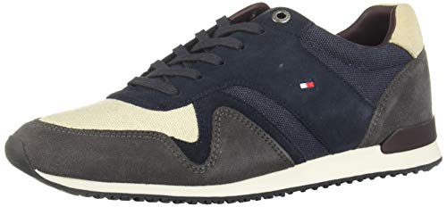 Tommy Hilfiger Iconic Material Mix Runner Hombres Zapatillas Casual - 43 EU