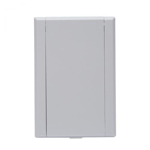 Saugdose rechteckig VacuValve Farbe Weiss, Zentralstaubsauger Steckdose, 90x135mm, 2 Kontaktstifte, Öffnung 36-38mm
