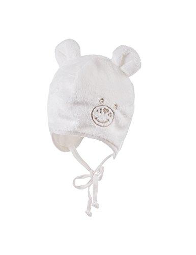 maximo Unisex baby beer met oren en borduurwerk muts, wit (wolwit 38), 43/45