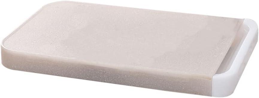 Cabilock Tabla de Cortar de Plástico Tabla de Cortar Bloque de Carnicero Tabla Picadora con Bandejas Deslizantes para Frutas Verduras Queso Suministros de Cocina Beige