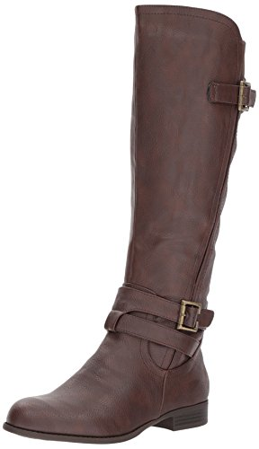 LifeStride Women's Francesca Knee High Boot, Brown, 9 M US