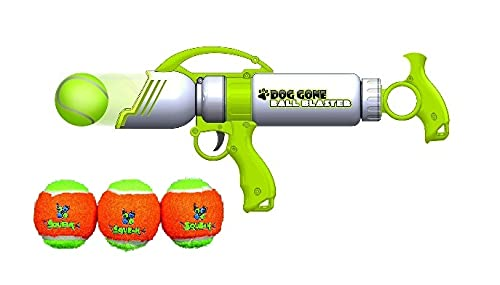 MFC Dog Gone Ball Blaster with 3 Free Squeaky Additional Tennis Balls