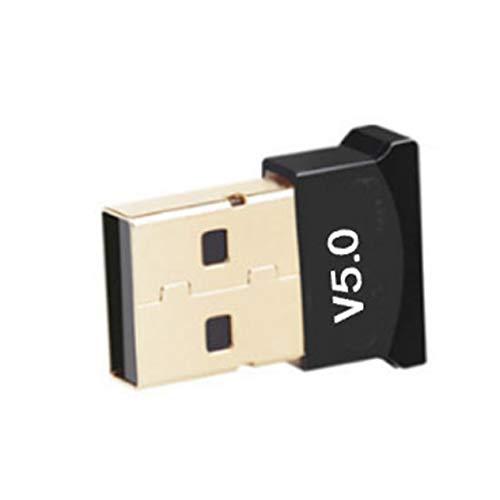 Goldyqin Adaptador inalámbrico USB 5.0 Transmisor inalámbrico Receptor de Audio Adaptador inalámbrico USB para PC y portátil portátil