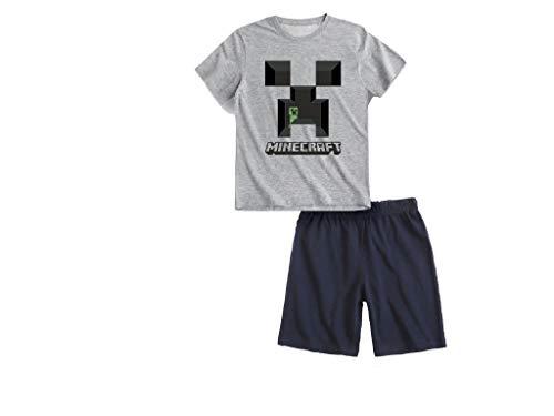 Global Brands Shorty Pyjama Schlafanzug (grau, 152)