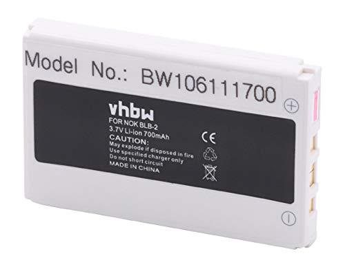 vhbw batteria compatibile con Nokia 3610, 5210, 6500, 6510, 6590, 6590i, 7150, 7650, 8210, 8250 smartphone cellulare (700mAh, 3,7V, Li-Ion)