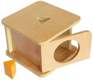Montessori Imbucare Box with Triangle Prism