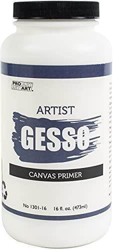 Pro Art Premium Gesso Canvas Primer - 16 Fl.oz.