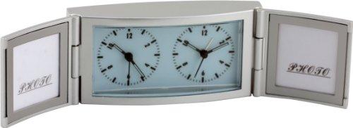 New Haven Photo Frame Alarm Desk Clock, Silver
