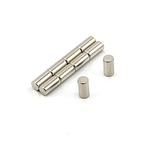 Magnetastico® | 10 Stück Neodym Magnete N52 Stab 5x10 mm | Kühlschrankmagnet Pinnwandmagnet Dauermagnet Whiteboardmagnet Haftmagnet Magnetstab Stabmagnet Zylindermagnet