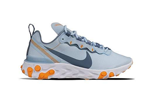 Nike Damen W React Element 55 Leichtathletikschuhe, Mehrfarbig (Lt Armory Blue/Armory Blue/White 400), 44 EU