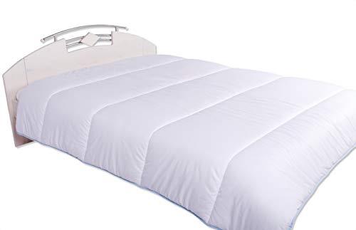Bettdecke Decke aus Baumwolle Warm Winterdecke Weiss Übergröße 200x200 240x260 cm (260 x 240 cm)