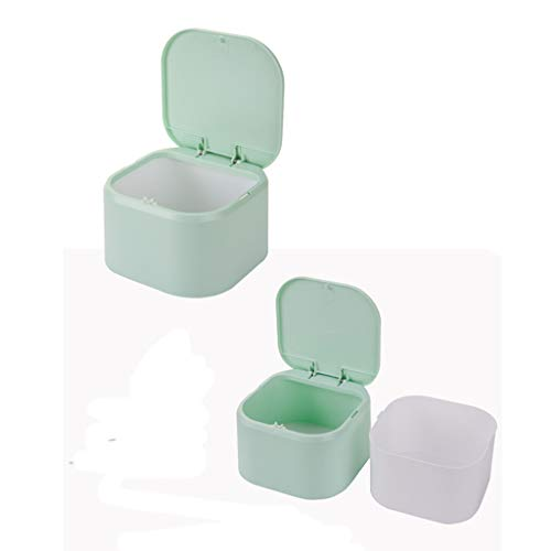 Wffo Newest Mini Desktop Push-on Cover Trash Can Waste Garbage Basket TableRubbish BinSafe and Environmentally Friendly (Green)