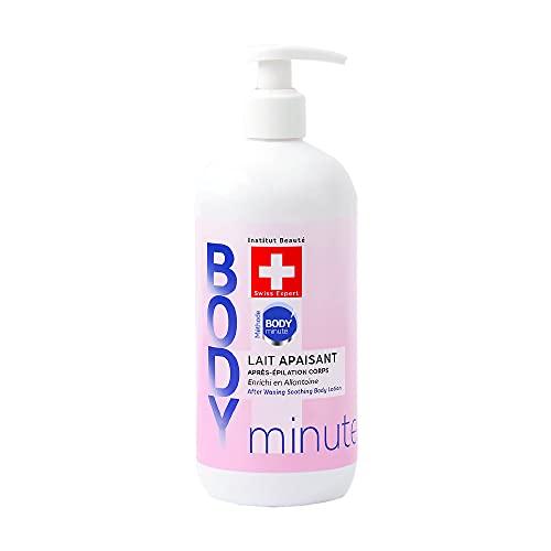 BODY'minute SUISSE - LAIT APAISANT APRES EPILATION - Apaise et hydrate la peau, Calme les irritations liées à l'épilation - Beurre de mangue, Cyprès, Géranium et Eau des Alpes suisses