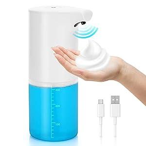 immagine di TriPro Dispenser Sapone Automatico,Ricaricabile USB 350ml,Distributore di Sapone Schiumogeno, Dispenser Igienizzante Mani, Erogatore di Sapone Touchless con Sensore di Infrarossi per Cucina Bagno e WC