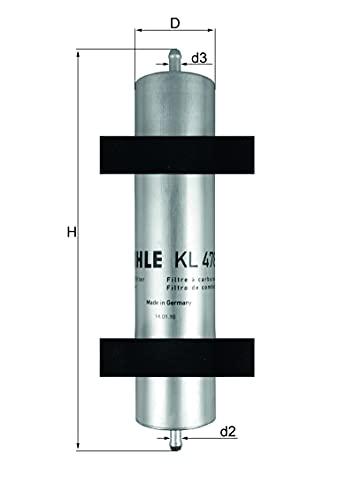 Mahle Filter KL478 Filtro De Combustible