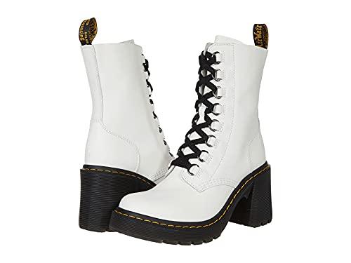 Dr. Martens Women's Lace Fashion Boot, White Sendal, 7