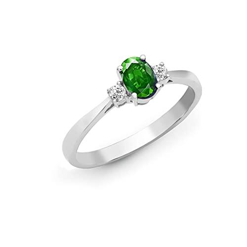 Jewelco Europa Señoras Oro Blanco 18k 0.08ct Diamante compromiso anillo