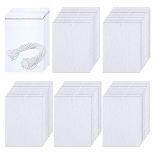 LEEleegang Ambientador de sublimación en Blanco Ambientador de Bricolaje Hojas perfumadas Espacios de Fieltro Ambientador de Aire en Blanco
