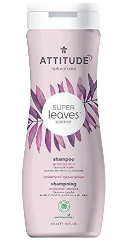 ATTITUDE Super Leaves, Hypoallergenic Moisture Rich Shampoo, Quinoa & Jojoba, 16 fl oz (pack of 1) (11007)