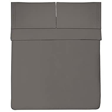 Sweet Home Collection 1800 Thread Count Egyptian Quality Brushed Microfiber 4 Piece Deep Pocket Bed Sheet Set, King, Gray