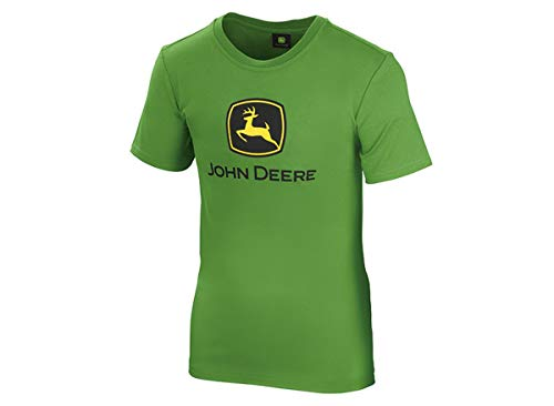 John Deere Jungen Classic T-Shirt für Teenager Grün Logo (Grün, 140/146)