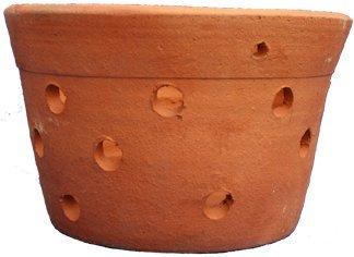 Pot d'orchidée en argile perforé pour orchidées fait à la main (20 cm)