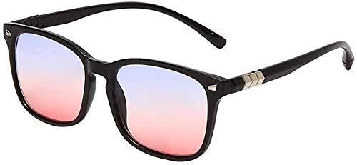 Gafas de sol para hombre y mujer Moda Conducción Sombrilla Gafas Retro Mi Nail Deportes Gafas Negro_Frame_Upper_Blue_and_Lower_Powder