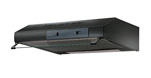 Faber - mod. Castell TCH04BK16A 741- Cappa semintegrata /semincassata (rimovibile), colore: nero, aspirazione: 160m³/ora, con luce alogena, in metallo, classe energetica: E