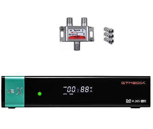 Gtmedia-Receptor , Receptor de WiFi satelital Integrado actualizado de gtmedia v8. Mezclador de señal satélite y televisión Incluido. (GTMEDIA V8X)