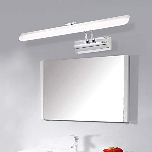 Lámpara LED Para Espejo De Baño IP44 Luz De Baño Impermeable Moderna 180 ° Ángulo De Rotación Luz De Maquillaje Blanco Neutro 4000K Luz De Espejo Baño Pantalla De Acrílico Antiniebla,44cm6w