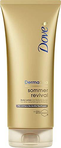 Dove DermaSpa Body Lotion, für mittlere bis dunkle Hauttypen Sommer Revival mit Cell-Moisturisers, 200ml 1 Stück