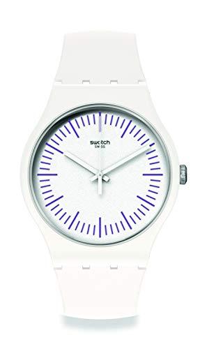 Swatch orologio Whitenpurple 41mm Originals New Gent SUOW173
