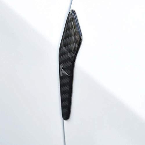 2 piezas de fibra de carbono para puerta de coche, parachoques, borde, protector de esquina, amortiguador, moldura, tira de protección, barra de choque para puerta para Tesla modelo 3