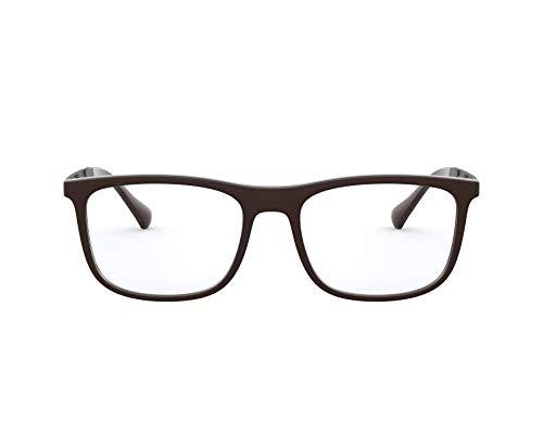 Emporio Armani Gafas (EA-3170 5196) de caucho acetato, metal marrón oscuro, marrón mate