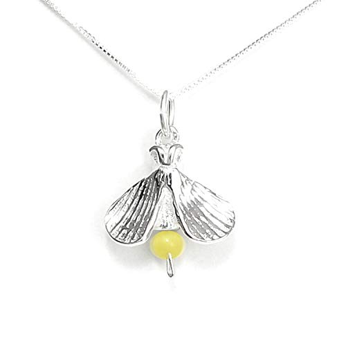 """Firefly Lightning Bug Necklace Sterling Silver - Gift Boxed with Inspirational Story Card - Made in USA - 20"""" Chain"""